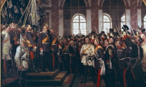 A painting depicting the moment King William I of Prussia became emperor of Germany in 1871