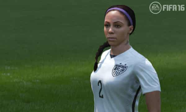 Sydney Leroux rendered in the Fifa 16 game.