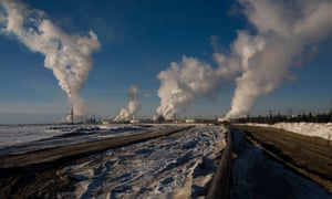 Syncrude Canada Ltd's oil sands tailing ponds, Fort McMurray, Alberta, Canada