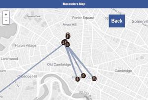 a map screenshot on Facebook