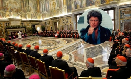 The Pope and his all-male panel!