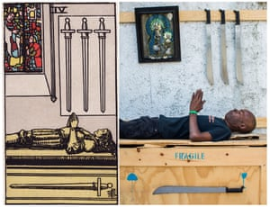 Ghetto Tarot: Four of Swords.