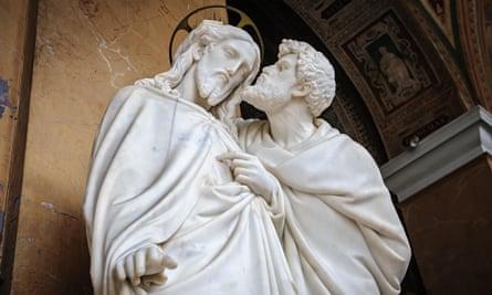 Kiss of Judas statue