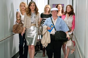 Rose Byrne (second from left) and her Bridesmaids co-stars in Paul Feig's 2011 film.