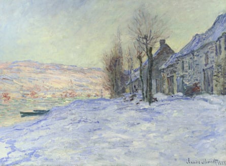 Claude Monet's Lavacourt under Snow. Photograph: The National Gallery/PA