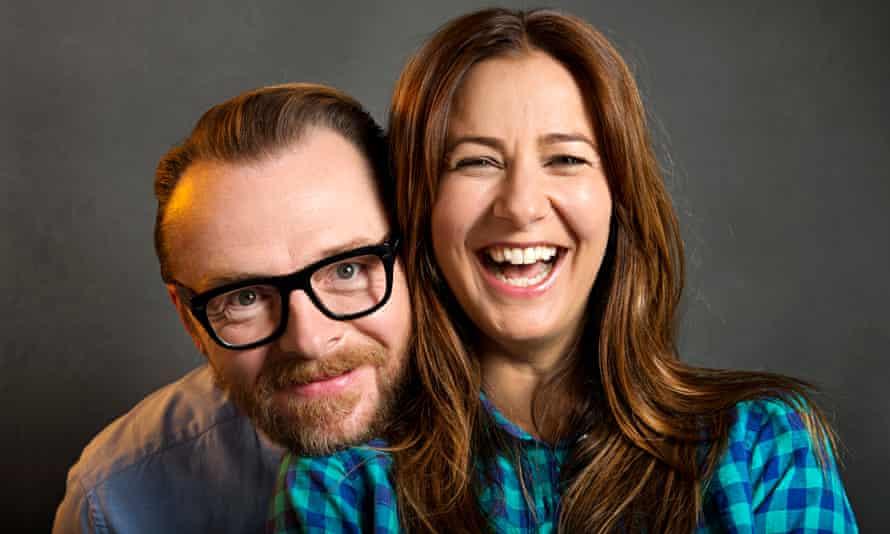 Simon Pegg and Tess Morris