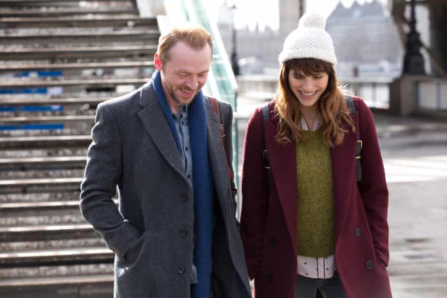 Simon Pegg as Jack and Lake Bell as Nancy in Man Up.