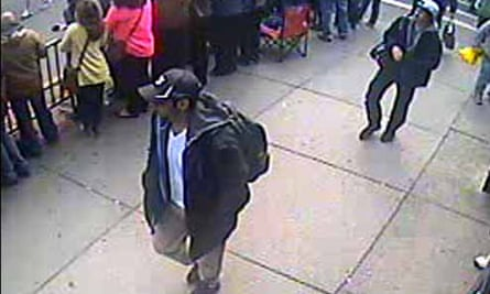 Suspects ... the photographs handed out at an FBI news conference on 18 April.