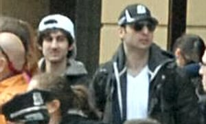 """'Wanted for questioning in relation to the Boston Marathon bombing"""": Jahar (left) and Tamerlan  Tsarnaev."""