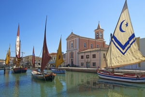 Traditional boats at the Museo della Marineria, Cesenatico.