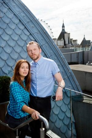Simon Pegg and Tess Morris.