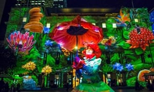 Customs House becomes a fantasy land during Vivid.g