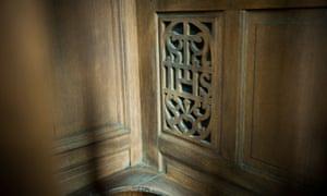 Catholic confessional.