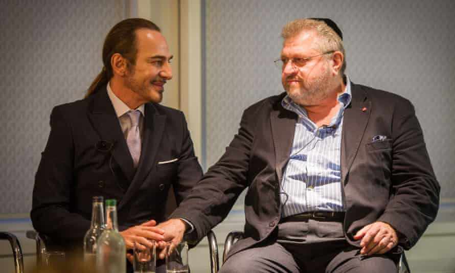 John Galliano with Rabbi Barry Marcus MBE at a fashion event on thursday night