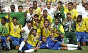 Brazil celebrate after winning the 1994 World Cup in the USA. Contacts regarding a sponsorship deal were established by Nike after that.
