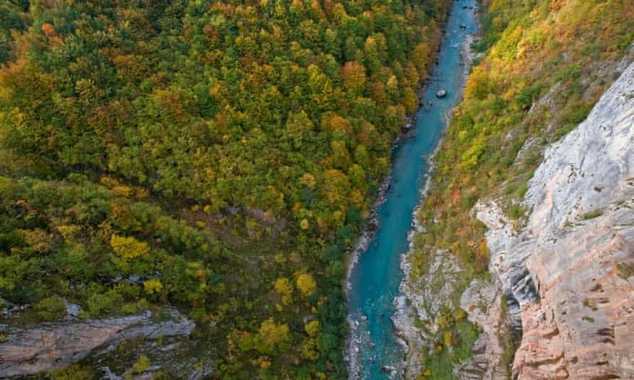 Tara Canyon viewed from Djurdjevica Bridge, Durmitor NP, Montenegro
