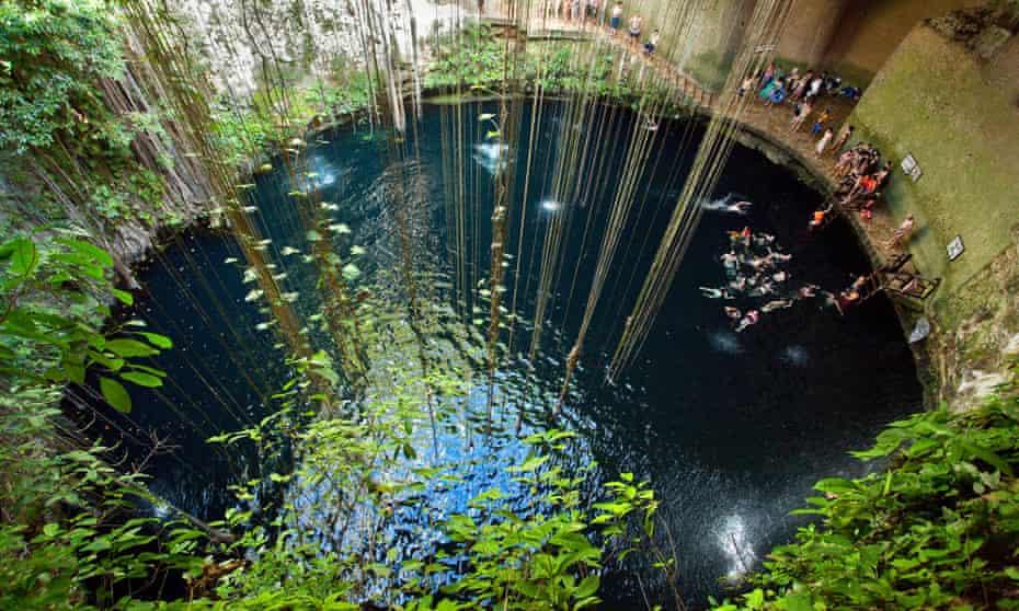 Cenote Ik-Kil, Ik Kil, Merida, Yucatan, Mexico,