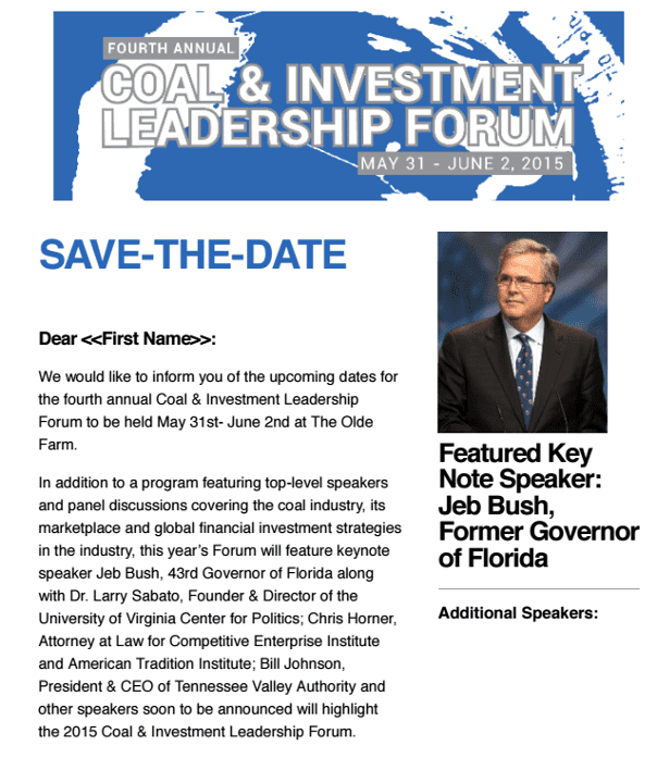 jeb bush invitation