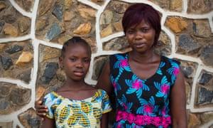 Fatmata Sesay and daughter