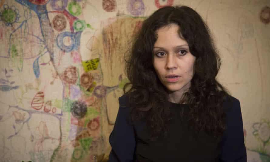 Lyudmila Savchuk speaks from her apartment in St Petersburg, Russia.