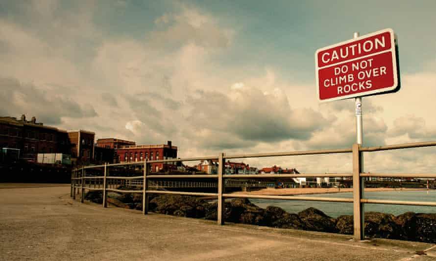 Caution - Do Not Climb over Rocks