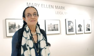 Mary Ellen Mark at an exhibition of her work at the Leica Gallery Los Angeles in 2013.