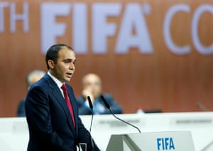 Prince Ali Bin al-Hussein addresses the Fifa Congress.