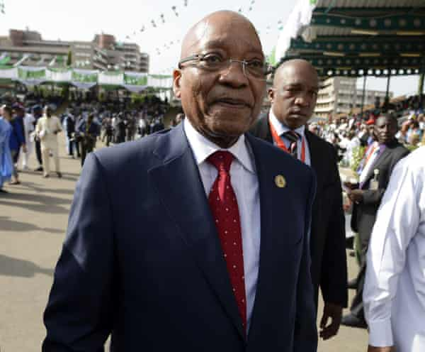 South African president Jacob Zuma was one of many African leaders who attended.