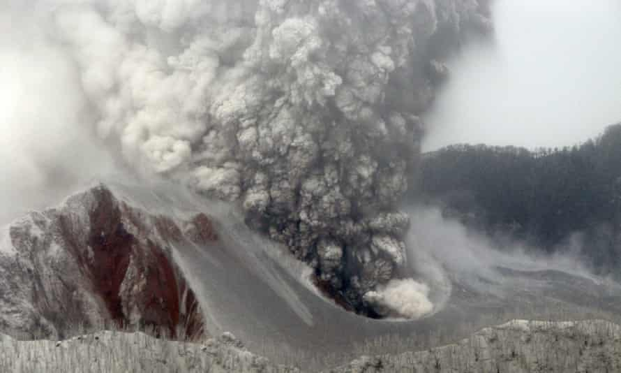 The Chaiten volcano in Chile erupting in May 2008.