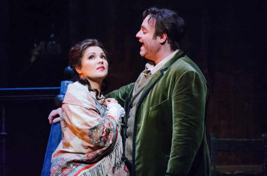 Anna Netrebko (Mimi) and Joseph Calleja (Rodolfo) in the final run of John Copley's production of La bohème at the Royal Opera House.