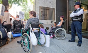 disabled people protest DWP