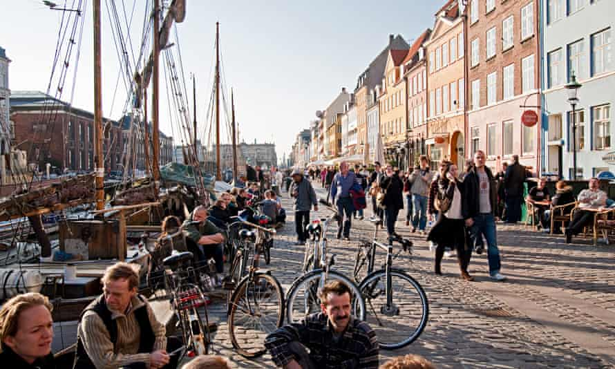 A waterfront scene in Copenhagen
