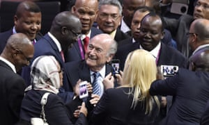 FIFA President Sepp Blatter is re-elected