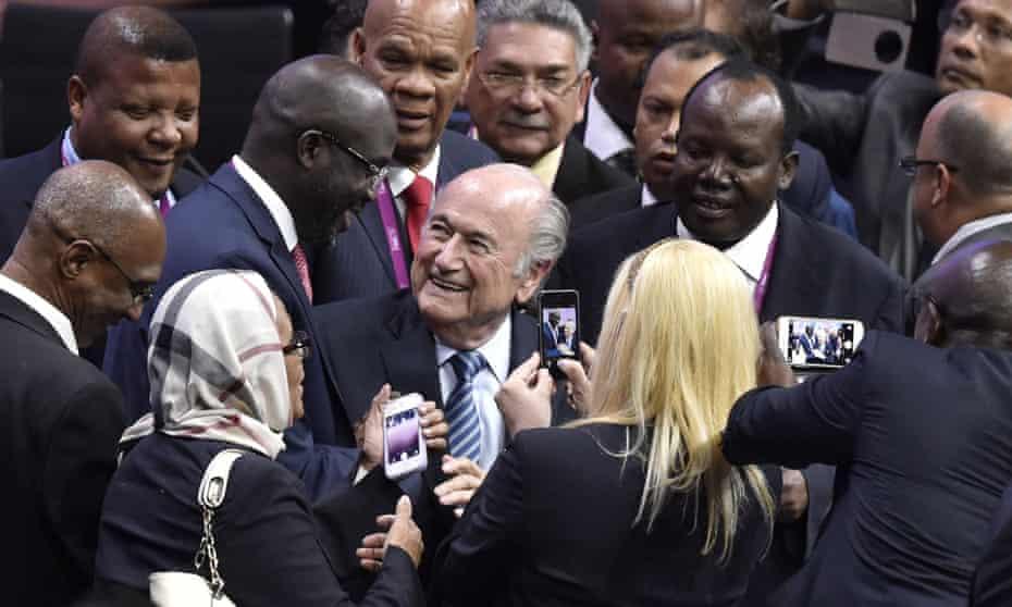 FIFA President Sepp Blatter is re-elected