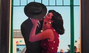 The Last Great Romantic, one of Vettriano's paintings (cropped).