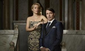 Hannibal: (l-r) Gillian Anderson as Bedelia Du Maurier and Mads Mikkelsen as Hannibal Lecter.