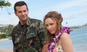 Aloha talk, not much action ... Bradley Cooper, left, and Rachel McAdams.