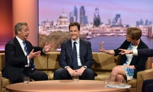 Nick Clegg, Cooper and Farage on The Andrew Marr Show