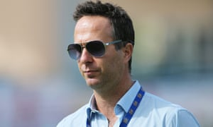 Michael Vaughan, the former England captain, during the second Test in Grenada.