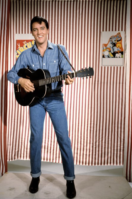 Elvis Presley promoting the film Roustabout (1964) which included the Tepper-Bennett song It's a Wonderful World.