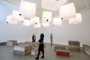 Untitled installation by Swedish artist Klara Liden at Galerie Neu during Berlin Gallery Weekend.