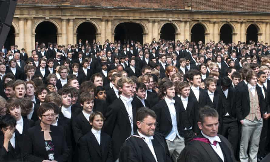 Eton pupils assemble for a royal visit. PwC has decided its graduate programme is recruiting too many privately educated pupils.