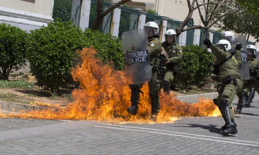 Scuffles broke out between police and protestors during May Day demonstrations in Athens. Syriza remains ahead of New Democracy in opinion polls, but discontent is growing among Greeks who voted them to power.