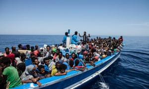 MOAS rescuies 369 migrants after spotting them with the Schielble camera copter