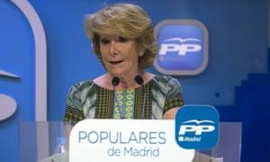 Conservative candidate Esperanza Aguirre