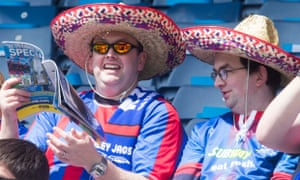 Inverness Caledonian Thistle fans at the Scottish Cup final against Falkirk.