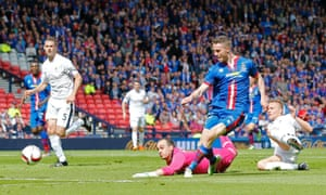 Inverness Caledonian Thistle's Marley Watkins slots home the opening goal.
