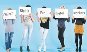 Room attendants are demanding fairer treatment