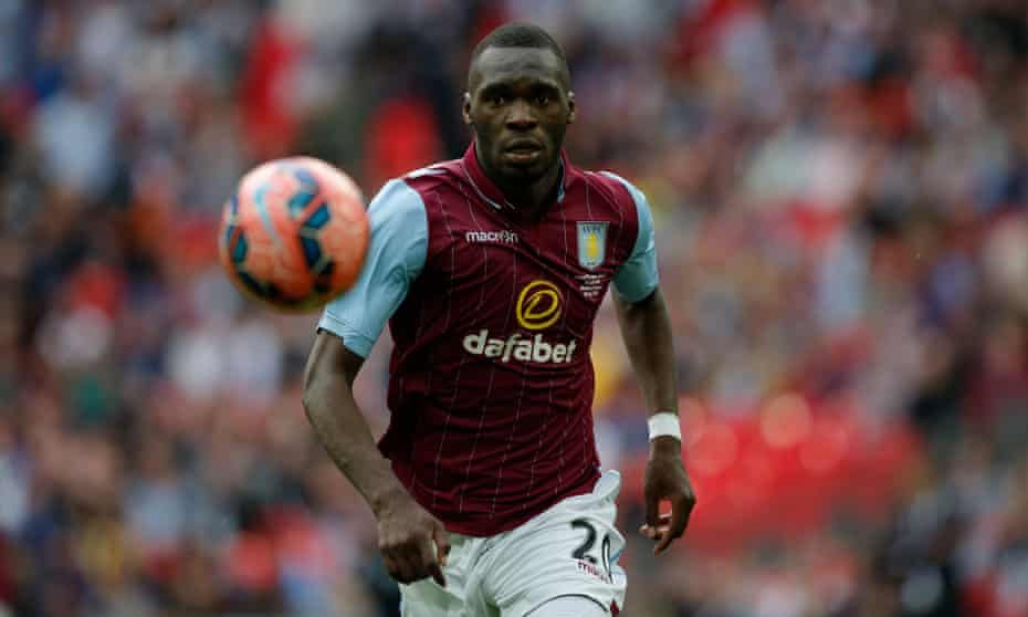 Aston Villa's Christian Benteke had a quiet and ineffectual game.
