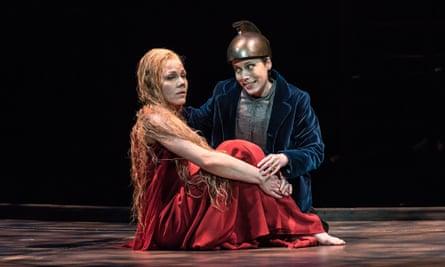 Jurgita Adamonytė and Rebecca Bottone in the Welsh National Opera production of Debussy's Pelléas et